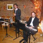 Musikalisches Duo bei der Feier in Wiesbaden