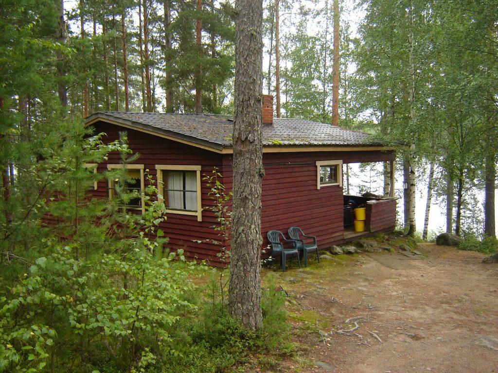 Unsere Hütte Annikki am Ufer des Haapaselkä mitten im Saimaa-Seengebiet
