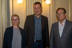 (Mattias Göbel) Der neu gewählte Bundesvorstand: Mari Koskela, Hans Koppold und Dr. Hubert Kleine