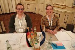 (G.Bernhardt) Die Protekollantinnen Daniela Petto von der DFG Hessen und Ines Keubler, Leiterin der Bundesgeschäftsstelle
