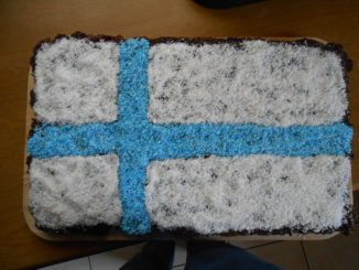 Flagge Finnland als Kuchen