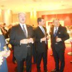 DFG-Hessen Vorsitzender Harry Skoutajan (2.v.r.) im Gespräch mit Dr. Kolster (r.), Honorarkonsul von Finnland in Hessen
