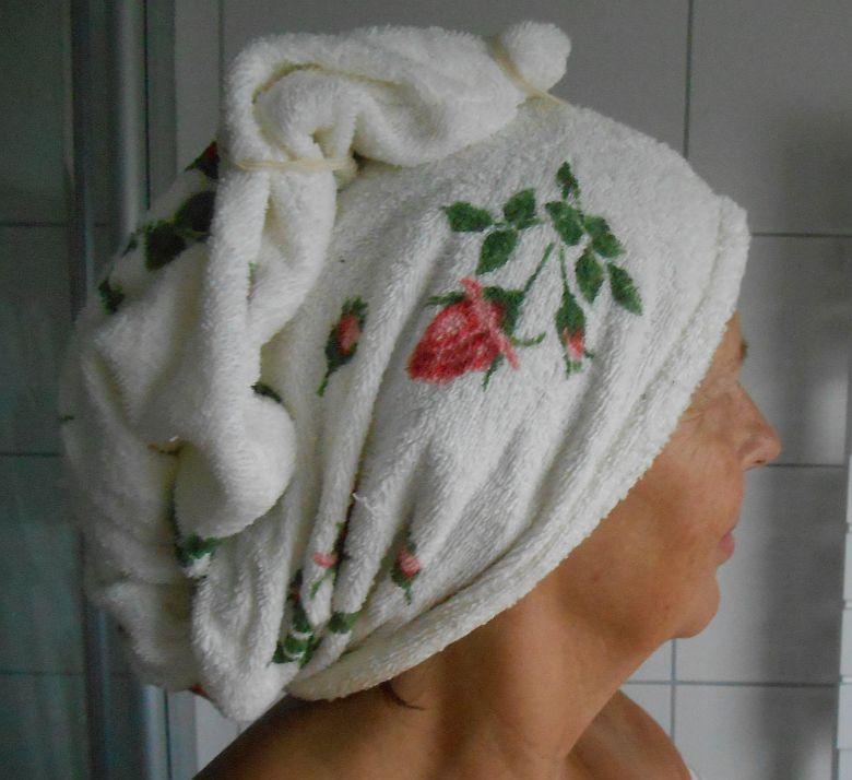 Saunamütze für Frauen, um die Haare zu schützen